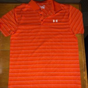 Men's Heat Gear Under Armour Loose Fit Polo Sz Sm